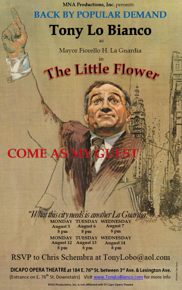 FREE: Tony Lo Bianco Offers his Passion About Fiorello H. LaGuardia 'The Little Flower'