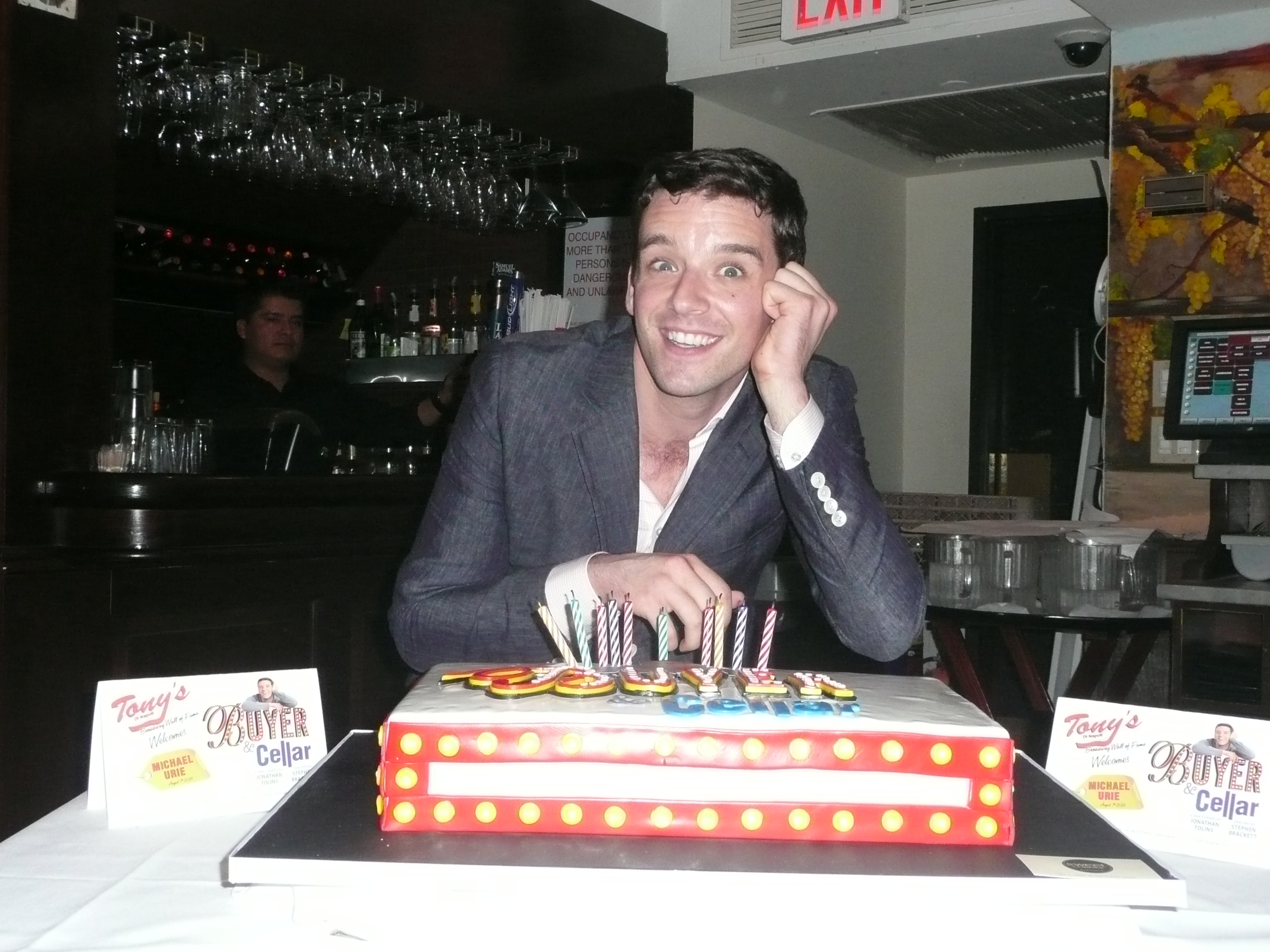Celebs Turn Out to Celebrate Michael Urie's 33rd Birthday at Tony's DiNapoli (video)