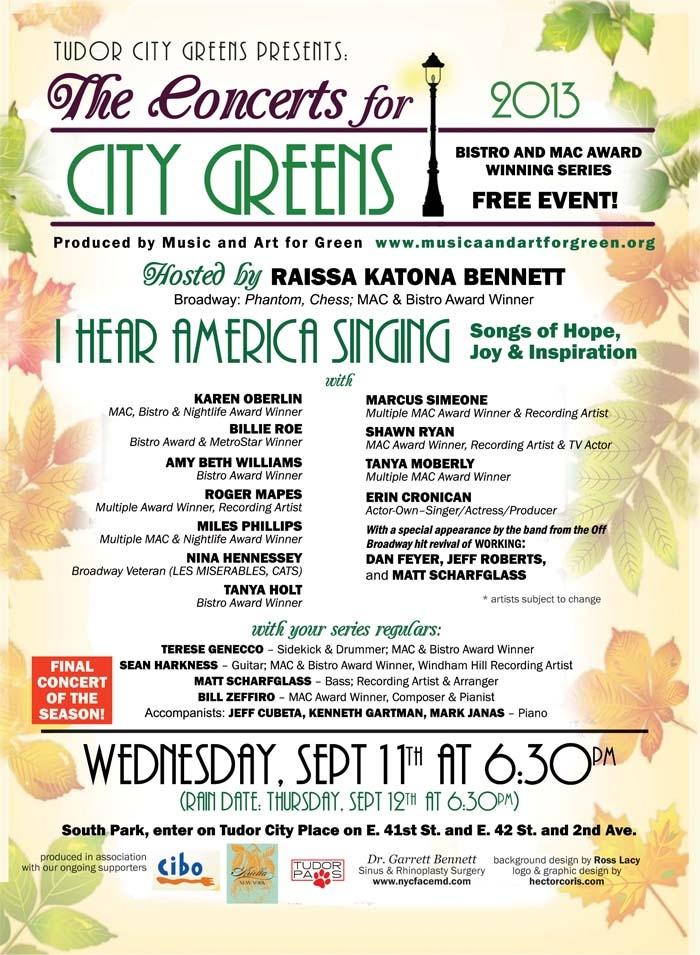 I Hear America Singing – Songs of Hope, Joy & Inspiration 9/11 Concert