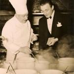 Algonquin chef Otto Schmock and maître d' Raul Viarengo.