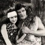 "Enid Markey with Elmo Lincoln, Jane &Tarzan first ""Tarzan"" movies"
