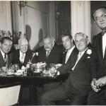 Louis Nizer, humorist Harry Herschfield, writer Konrad Bercovici, Joe DiMaggio, Ben B. Bodne, Abel Green