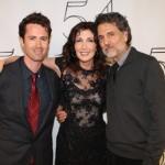 with son Aaron & husband Chris Sarandon