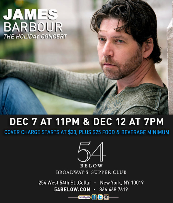 James Barbour to Perform Holiday Concert at 54 Below in December