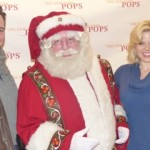 Brian Gallagher & wife Megan Hilty with Santa!