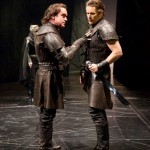 Brian D'Arcy James (left) and Ethan Hawke. Macbeth, by William Shakespeare, directed by Jack O'Brien at Lincoln Center Theatre, Vivian Beaumont Stage   10/25/13. PHOTO: T. Charles Erickson tcepix@comcast.net http://tcharleserickson.photoshelter.com/
