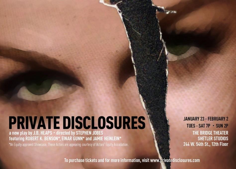 Private Disclosures – The Bridge Theatre