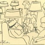 James Thurber cartoon of Algonquin Lobby © New Yorker Magazine