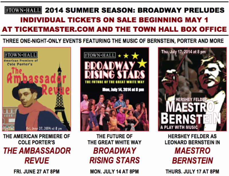 Summer at The Town Hall – Broadway, Porter, Bernstein