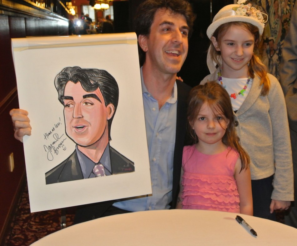 Jason Robert Brown Receive's Sardi's Caricature (Photos)
