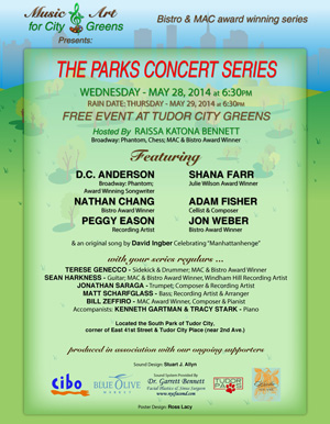 Summer Favorite The Parks Concert Series Begins May 28th