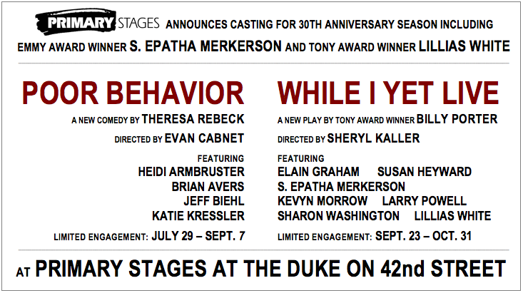 Primary Stages Announces 30th Season with S.Epatha Merkerson, Lillias White more!