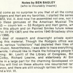 Info - Ben Bagley (click to enlarge)