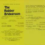 Robber Bridegroom Program
