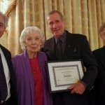 Marc Baron (Shepherd of The Lambs), Joyce Randolph (The Honeymooners), Jim Dale, and Jim's friend and Lamb, Larry Marx (click to enlarge)