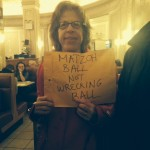 Jackie Hoffman - none too pleased - Matzo Ball soup her favorite