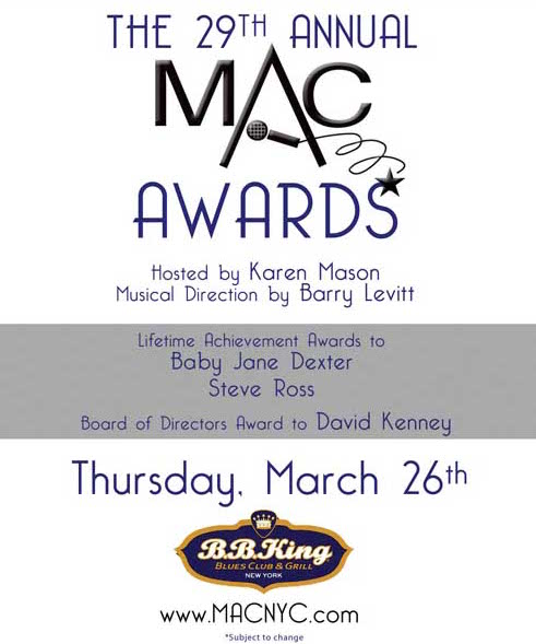 MAC Announces Award Presenters – Nominees