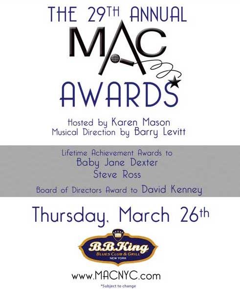 MAC Announces Award Presenters – Nominees