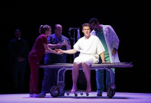 Jonathan Groff and cast, New Brain, 12, by Joan Marcus