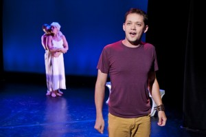 Robert Hager as Paul in Spot on the Wall at NYMF - Credit Jenny Anderson