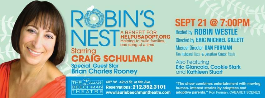 Robin's Nest Benefit Set for September 21st