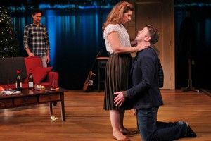 "THEATER PRESS ART - A DELICATE SHIP - The Playwrights Realm presents ""A Delicate Ship"" By Anna Ziegler; Directed by Margot Bordelon Pictured: Matt Dellapina (Sam), Miriam Silverman (Sarah) & Nick Westrate (Nate)"