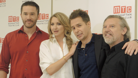 Nina Arianda,Sam Rockwell,Tom Pelphrey,Gordon Joseph Weiss Meet the Press