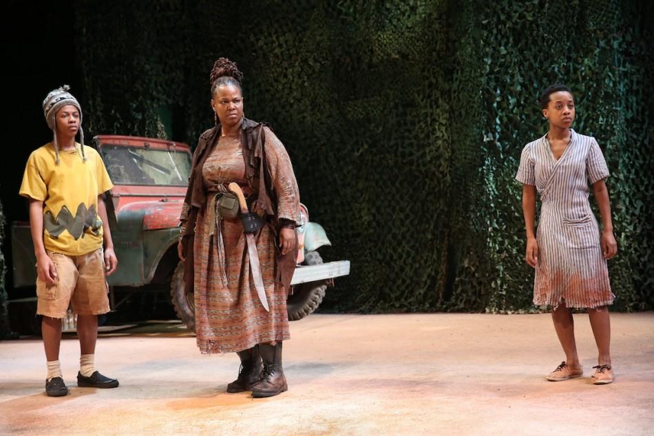 2. Deandre Savon, Kecia Lewis, Mirirai Sithole. Photo by Joan Marcus