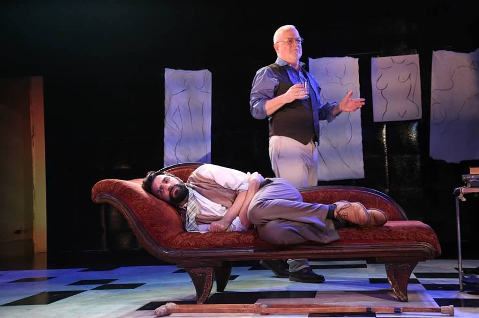 Craig Smith as Gustav and Josh Tyson as Adloph in Creditors at PTE.1