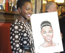 Eclipsed Lupita Nyong'o a Sardi's Portrait Celeb