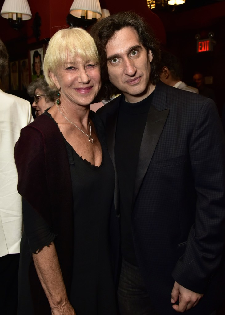 NEW YORK, NY - JUNE 06: Helen Mirren and Hershey Felder attend the Hershey Felder As Irving Berlin At The Town Hall, NYC - June 6 on June 6, 2016 in New York City. (Photo by Eugene Gologursky/Getty Images for Hersehey Felder)