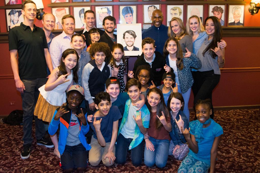 Alex Brightman and the cast of School of Rock DSC_1757