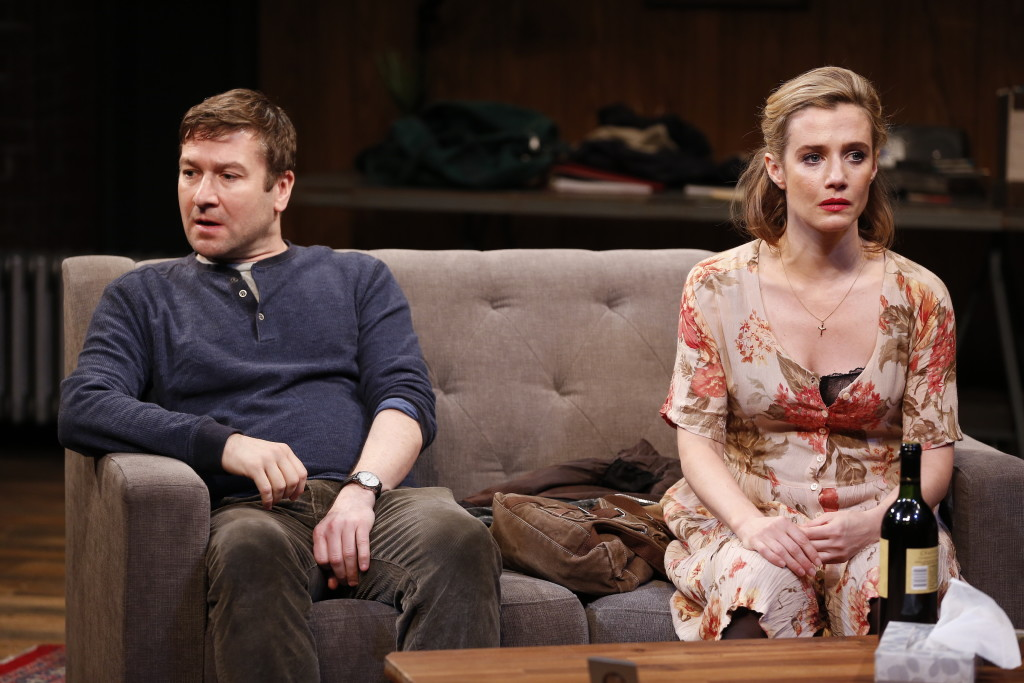 Billy Carter and Lisa Dwan in SHINING CITY at Irish Rep. Photo by Carol Rosegg
