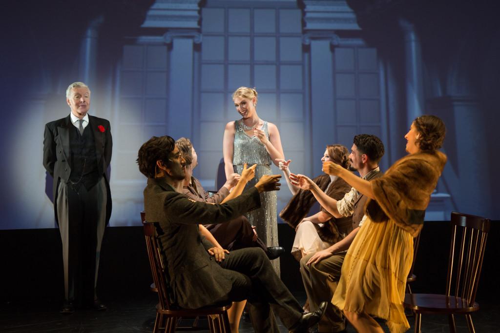 Tony & Olivier Award nominee Tony Sheldon and Charlotte Maltby with the cast of ICON - Shira Friedman Photography