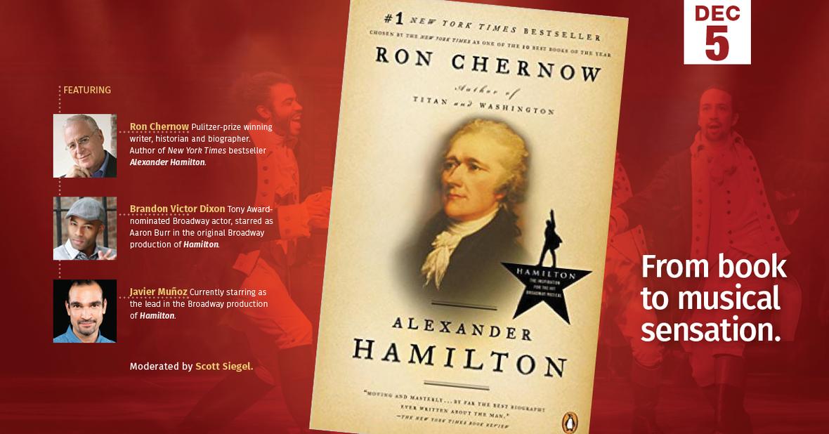 Theater Pizzazz Contributor Scott Siegel Moderates Hamilton:From Book to Musical Sensation