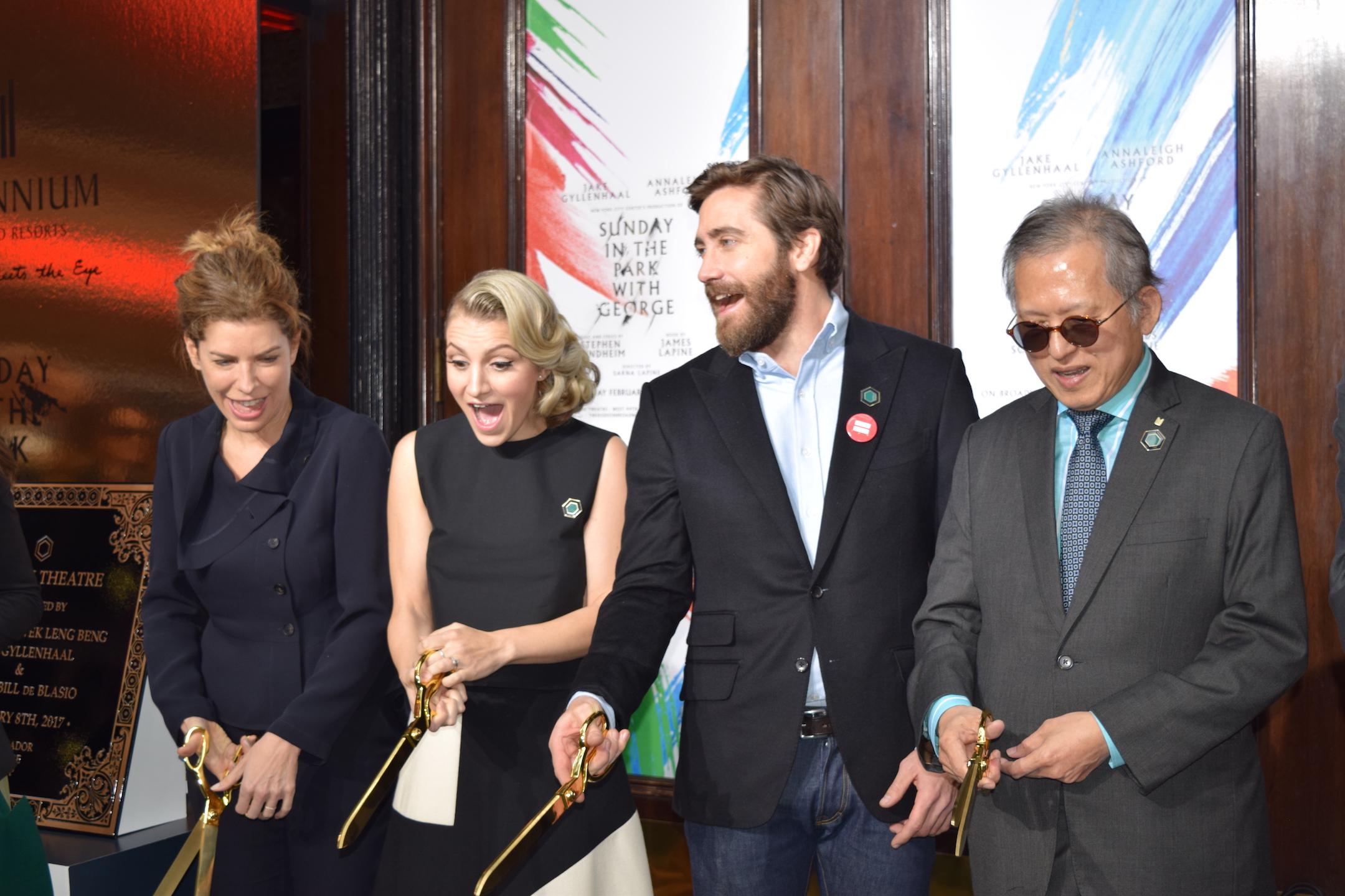 Jake Gyllenhaal & Annaleigh Ashford Cut the Ribbon at Hudson Theatre