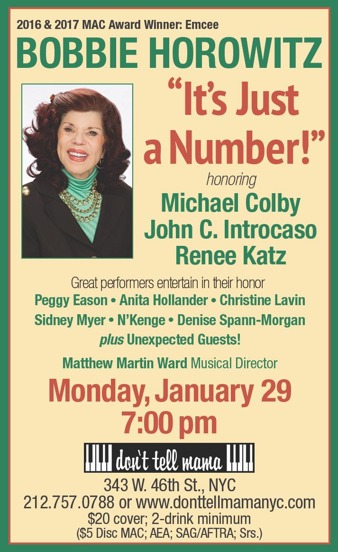 Bobbie Horowitz 'It's Just a Number'