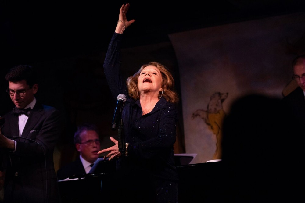 Linda Lavin With Billy Stritch at Cafe Carlyle