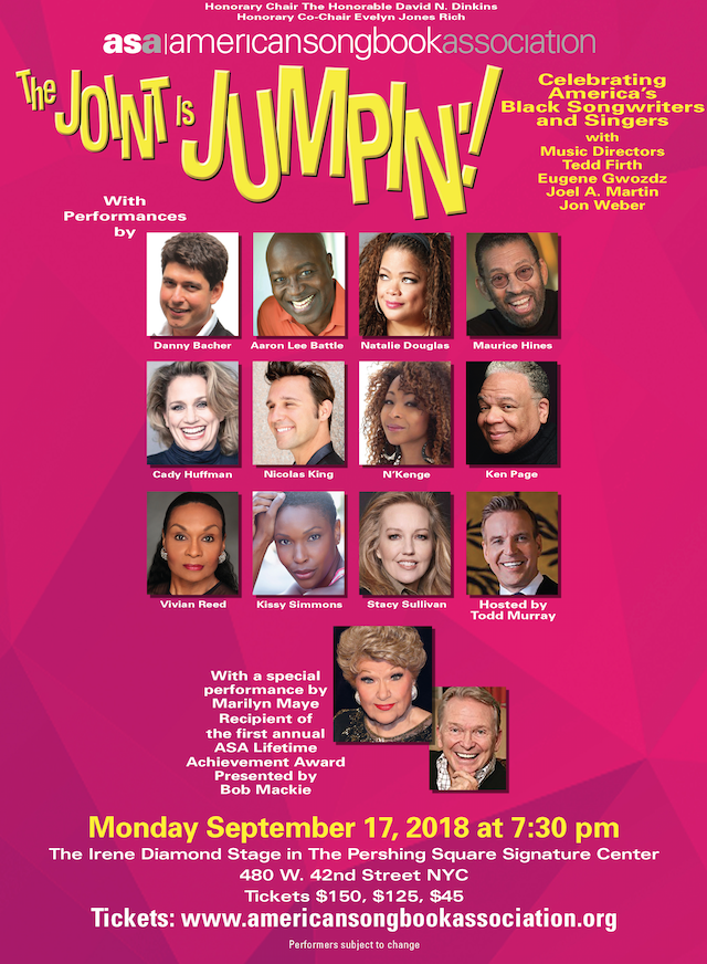 The Joint Will be Jumpin' for the American Songbook Association Benefit