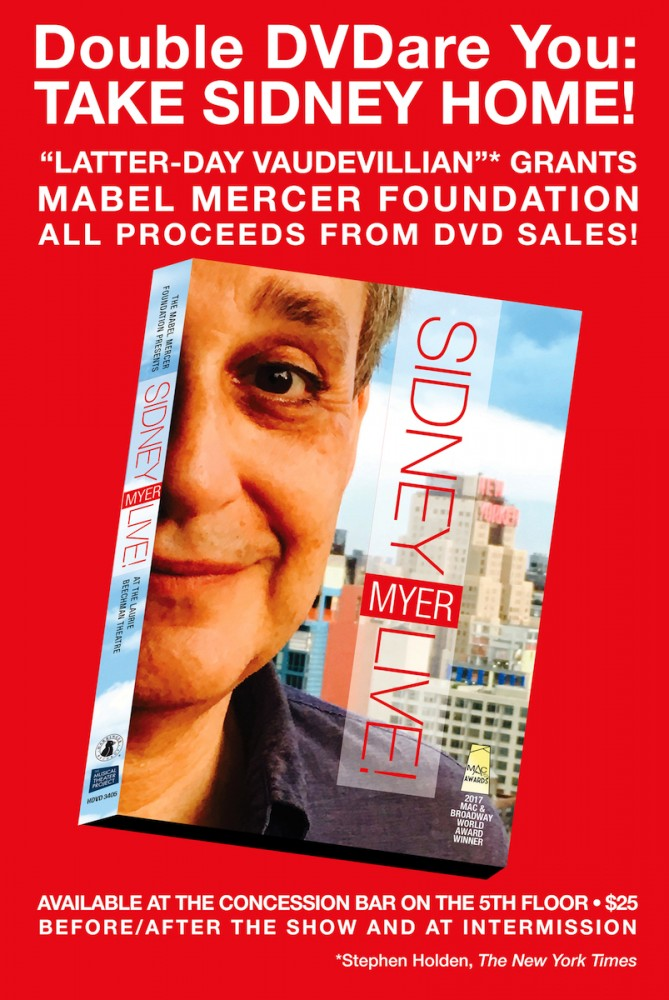 SidneyMyer:Live at the Laurie Beechman Theatre!