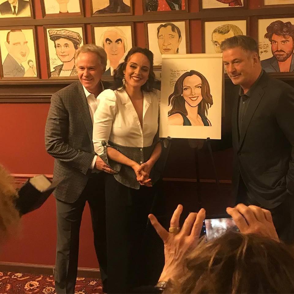 Melissa Errico – Sardi's Caricature: Alec Baldwin, Donna Murphy Too!