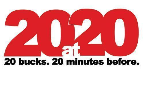 20at20 Announces Ticket Promotion Sept. 3-22