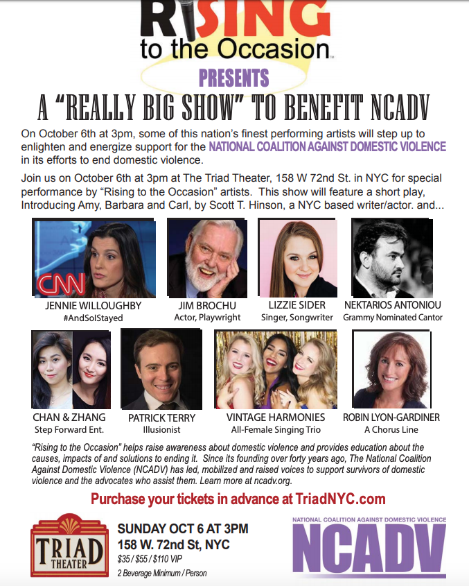 National Coalition Against Domestic Violence & Talent Rise to the Occasion