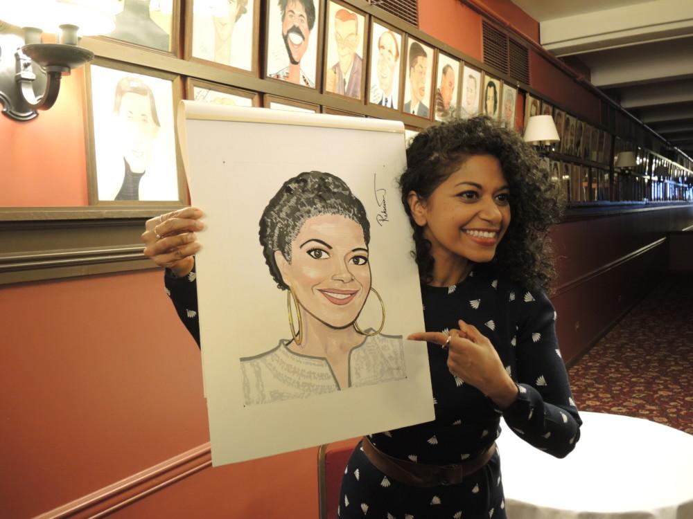 Rebecca Naomi Jones Joins Sardi's Legendary Wall of Caricatures