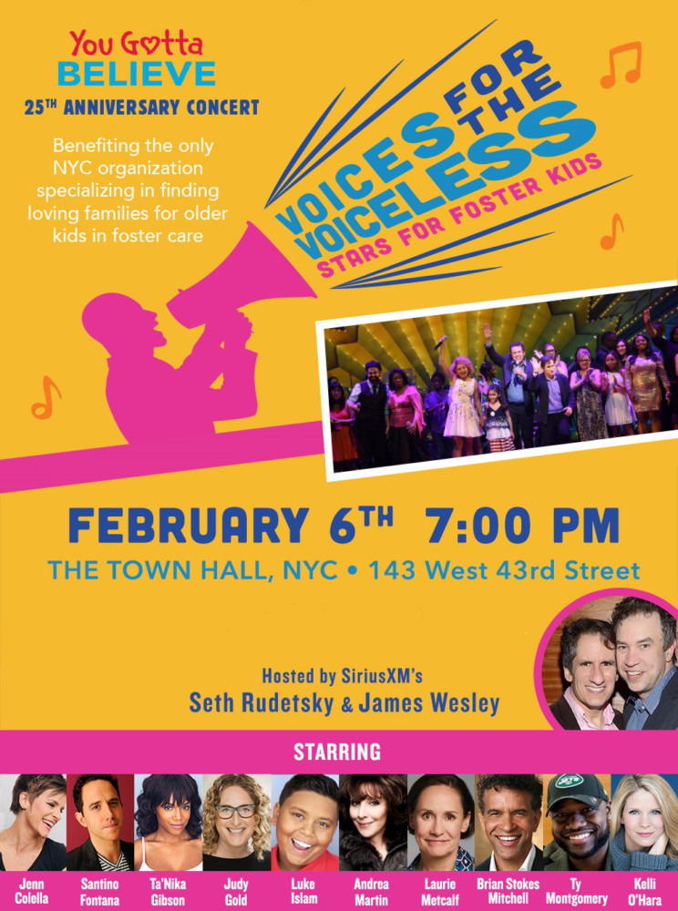 Voices for the Voiceless Will Benefit Foster Kids You Gotta Believe