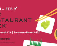 NYC Restaurant Week Jan 21 – Feb 9