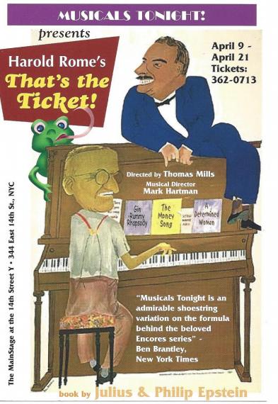 Insight into Memories of Musicals Tonight!