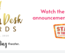 Drama Desk Award Nominees Live Today