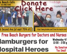 The Beach Cafe Donating Beach Burgers to Hospital Care Workers