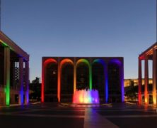 Rainbow Lights and Pride Flag Lincoln Center